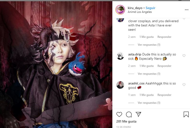 cosplay de Asta