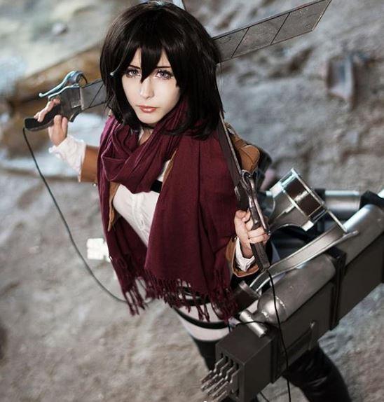 mejor cosplay de Mikasa