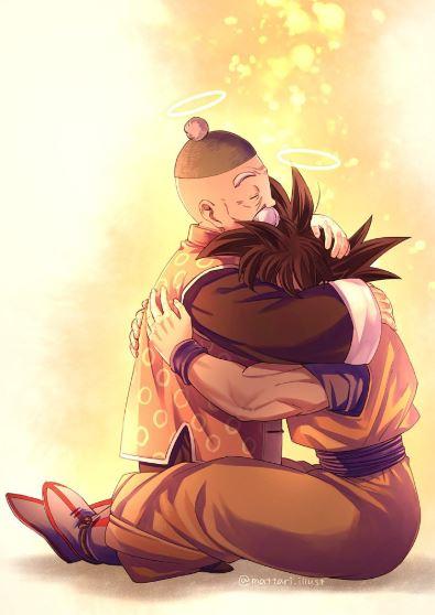 Goku y su abuelo Gohan