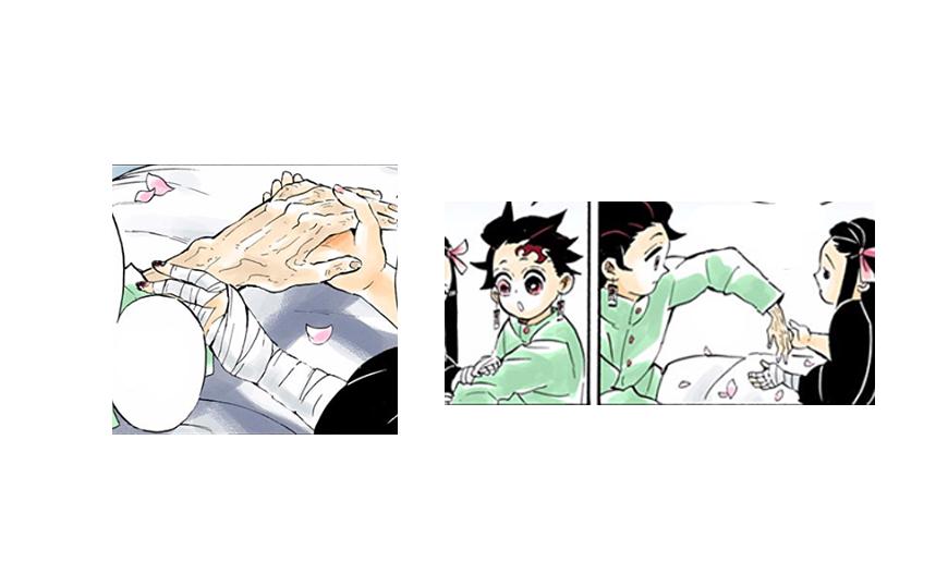 Kimetsu no Yaiba error brazo de Tanjiro