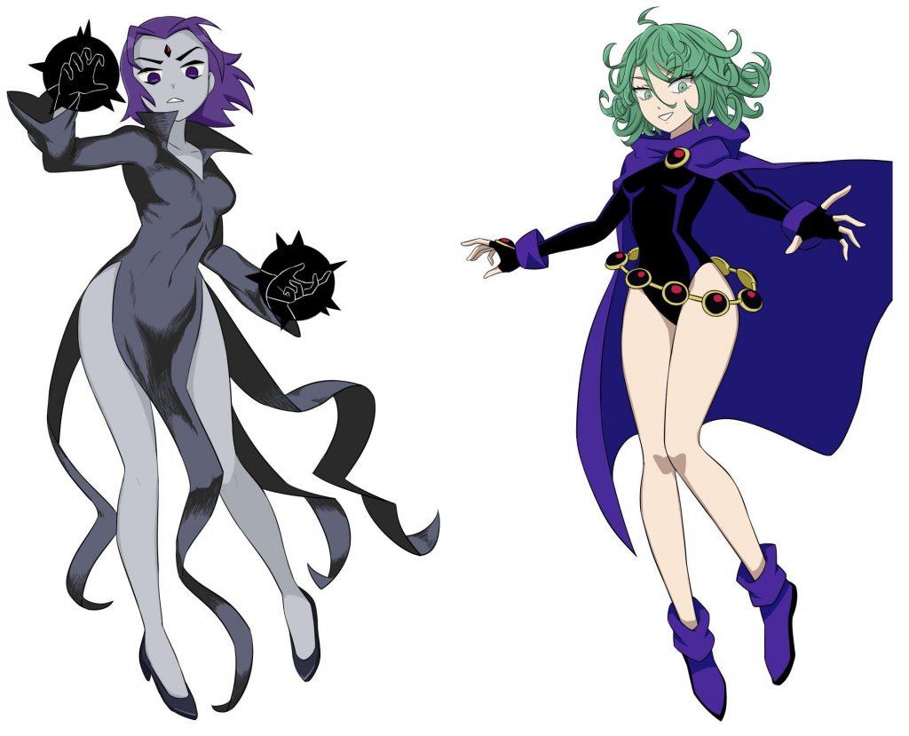 Tatsumaki y Raven