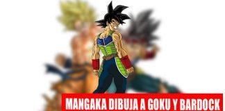 Bardock y Goku hacen el kamehameha juntos, dibujados por Toyotaro