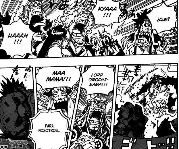 One Piece 985 : Traición de Kaido y fallecimiento de Orochi