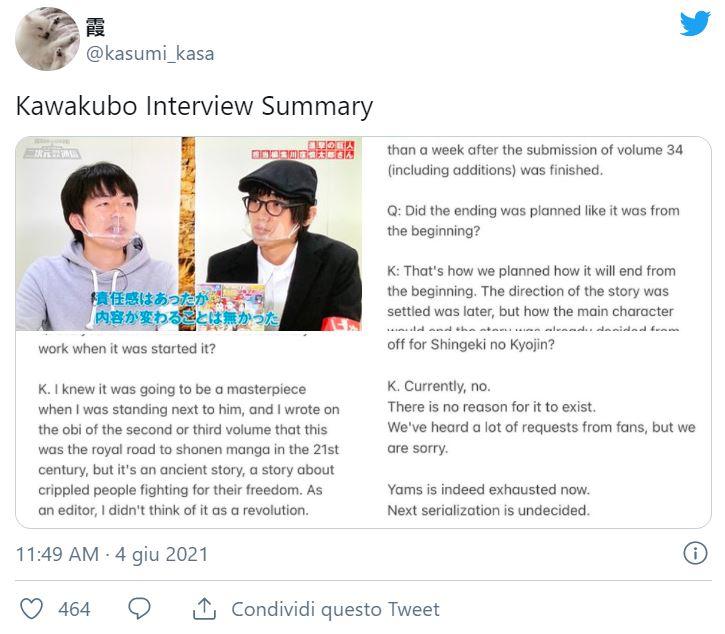 ¿Shingeki no Kyojin tendrá una secuela? El director nos revela a los fans esta verdad